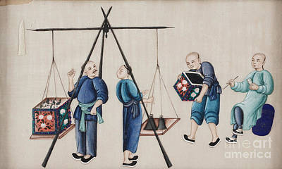 Painting - Portraying The Chinese Tea Traders by Celestial Images