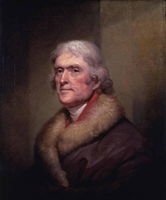 4th Of July Painting - President Thomas Jefferson by War Is Hell Store