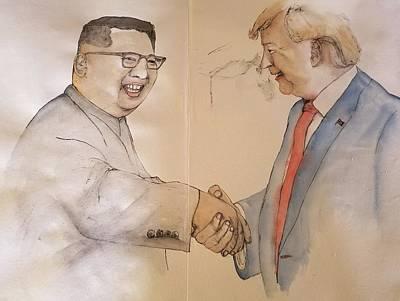 Painting - President Trump Album by Debbi Saccomanno Chan