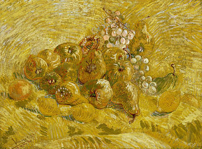 Apples Painting - Quinces, Lemons, Pears And Grapes by Vincent van Gogh