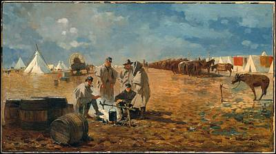 Rainy Day In Camp Original by Winslow Homer