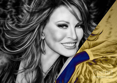 Raquel Welch Collection Art Print by Marvin Blaine