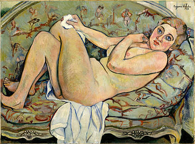 Painting - Reclining Nude by Suzanne Valadon