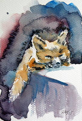 Red Fox Painting - Red Fox by Kovacs Anna Brigitta
