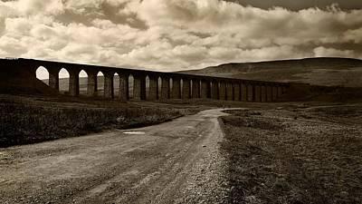 Cloud Digital Art - Ribblehead Viaduct by Super Lovely