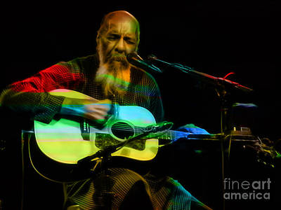 Guitar Mixed Media - Richie Havens Collection by Marvin Blaine