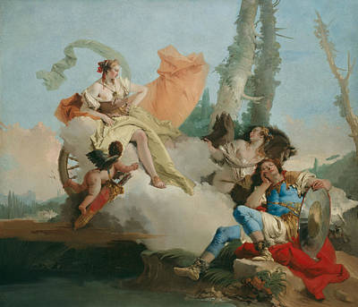 Painting - Rinaldo Enchanted By Armida by Giovanni Battista Tiepolo