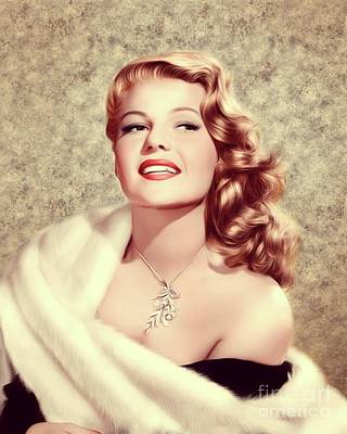 Musicians Royalty Free Images - Rita Hayworth, Vintage Actress Royalty-Free Image by Esoterica Art Agency