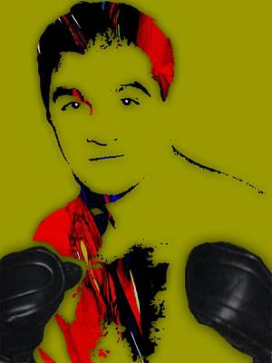 White Glove Mixed Media - Rocky Marciano Collection by Marvin Blaine