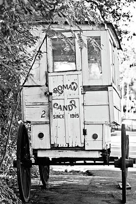 Roman Candy Cart Photograph - Roman Candy Cart - Bw by Scott Pellegrin