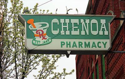 Route 66 - Chenoa Pharmacy Art Print by Frank Romeo