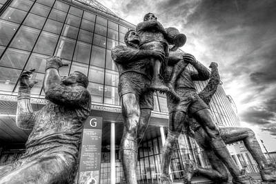 Photograph - Rugby League Legends Statue Wembley Stadium by David Pyatt