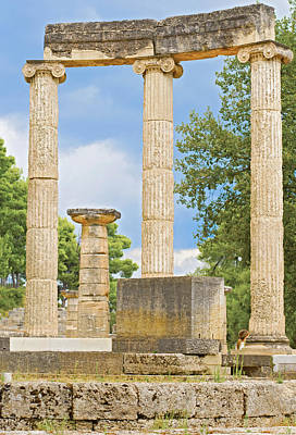 Photograph - Ruin Of Philipp's Temple In Olympia, Greece by Marek Poplawski