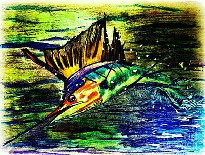 Sailfish Saltwater Fishing Art Print