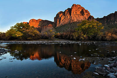 Southwest Photograph - Salt River Reflections by Dave Dilli