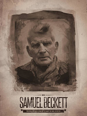 Samuel Beckett 02 Print by Afterdarkness