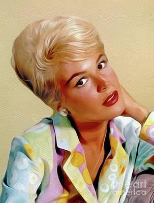 Painting - Sandra Dee, Vintage Actress by John Springfield