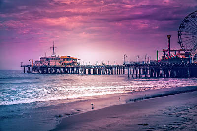 Photograph - Santa Monica Pier Collection- 8/36 by Gene Parks