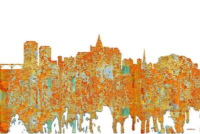 Digital Art - Saskatoon Sask.skyline by Marlene Watson
