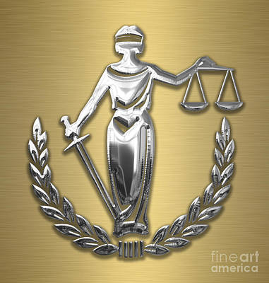 Scales Of Justice Collection Art Print by Marvin Blaine