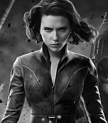 Actresses Mixed Media - Scarlett Johansson Black Widow Collection by Marvin Blaine