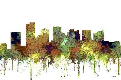Digital Art - Scottsdale Arizona Skyline by Marlene Watson