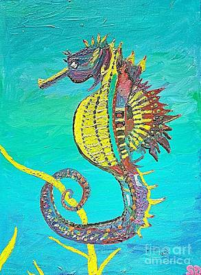 Sea Horse Oil Painting  Original by Scott D Van Osdol