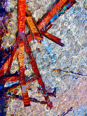 Consequences Digital Art - Sea. Rusty Iron And Shock Wave. by Andy Za
