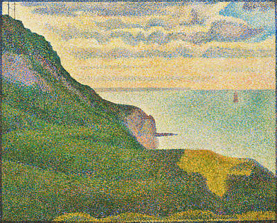 Pointilist Painting - Seascape At Port-en-bessin, Normandy by Georges Seurat