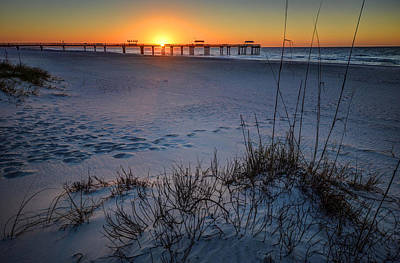 Photograph - 4 Seasons Pier Sunrise At Cotton Bayou by Michael Thomas