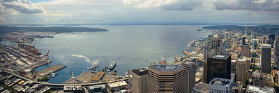 Photograph - Seattle Rooftop Panorama by Songquan Deng