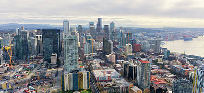 Photograph - Seattle Skyline  by Cathy Anderson