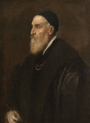 Self Portrait Painting - Self-portrait by Titian
