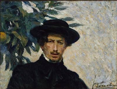 Umberto Boccioni Painting - Self-portrait by Umberto Boccioni