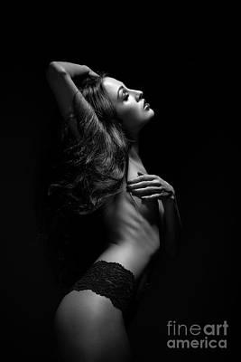 Arouse Photograph - Sensual Topless Woman by Aleksey Tugolukov