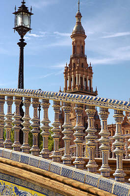 History Photograph - Seville - Plaza De Espana  by Andrea Mazzocchetti