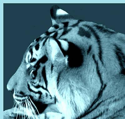 The View Of Art Mixed Media - Shades Of A Tiger  Series by Debra     Vatalaro