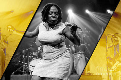B.b. King Mixed Media - Sharon Jones And The Dap-kings Collection by Marvin Blaine