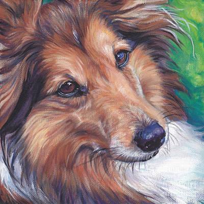 Sheltie Painting - Shetland Sheepdog by Lee Ann Shepard