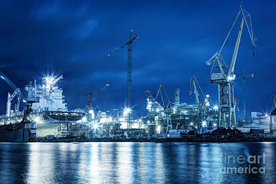 Terminal Photograph - Shipyard At Work by Michal Bednarek