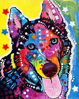 Siberian Huskies Painting - Siberian Husky by Dean Russo