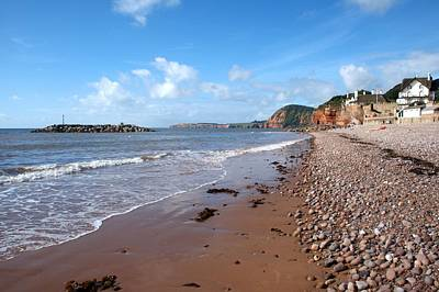 Photograph - Sidmouth Beach by Chris Day