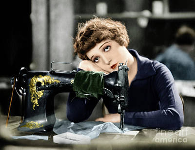Photograph - Silent Film Still Sewing by Granger