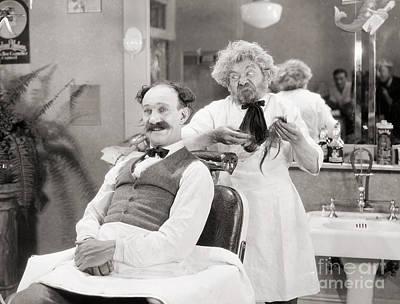 Silent Still: Barber Shop Art Print