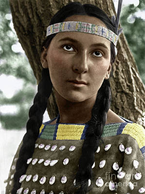 Photograph - Sioux Woman, C1907 by Granger