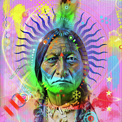 Digital Art - Sitting Bull by Gary Grayson