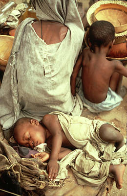 Photograph - Sleeping Baby In Timbuktu by Carl Purcell