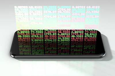 Numbers Digital Art - Smart Phone Stock App by Allan Swart