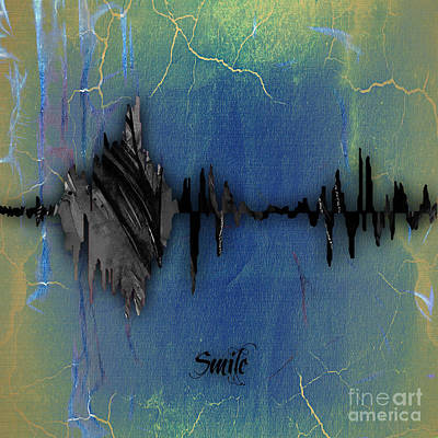 Mixed Media - Smile Sound Wave by Marvin Blaine