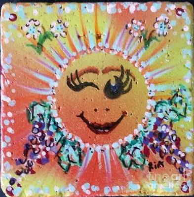 Bono Mixed Media - Smiley Tiley by Maria Pancheri